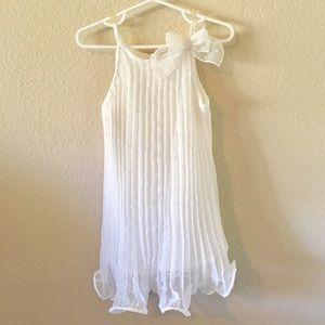 Pretty White Plated Dress